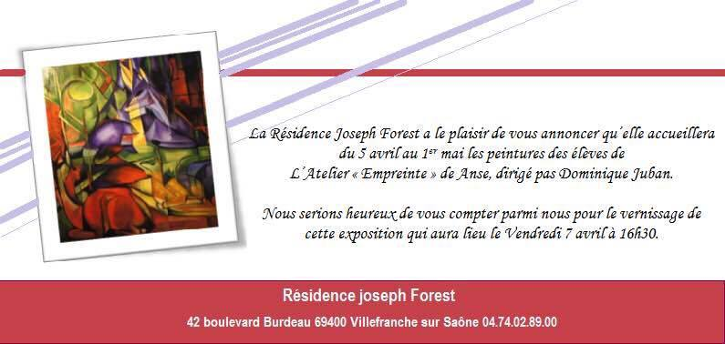 Invitation eleves domiique juban atelier empreinte