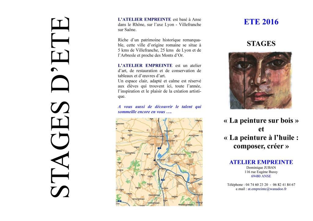 Programme des stages 2016 recto